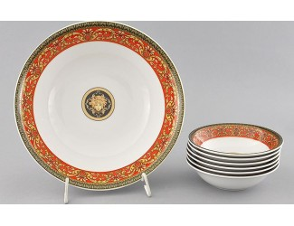 Набор салатников 7 предметов Leander Сабина Красна лента (Версаче) декор B979 02161416-B979