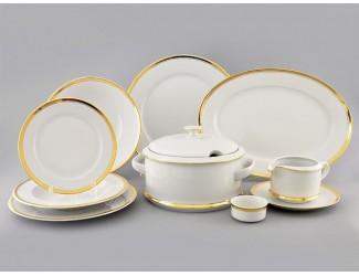 Сервиз столовый 25 предметов 6 персон Leander Сабина Отводка золото 0511