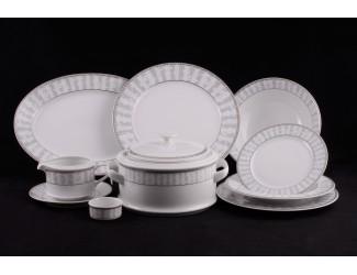 Сервиз столовый 25 предметов 6 персон Leander Сабина Серый орнамент 1013