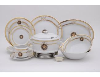 Сервиз столовый 25 предметов 6 персон Leander Сабина Золотая лента (Версаче) A126