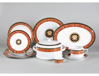 Сервиз столовый 25 предметов 6 персон Leander Сабина Красна лента (Версаче) B979