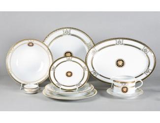 Сервиз столовый на 6 персон 24предмета Leander Сабина Золотая лента (Версаче) A126 02162124-A126