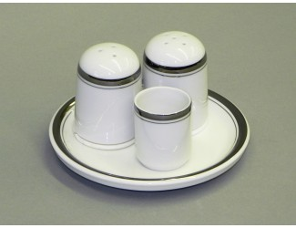 Набор для специй 4 предмета Leander Сабина Отводка платина, декор 0011