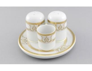 Набор для специй 4 предмета Leander Сабина Золотая лента (Версаче) декор A126 02162512-A126