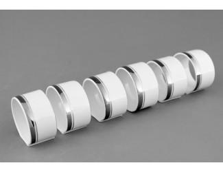 Набор колец для салфеток 6шт Leander Сабина Отводка платина, декор 0011