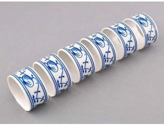 Набор колец для салфеток 6шт Leander Мэри-Энн Гжель (Луковый рисунок) декор 0055
