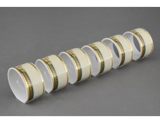 Набор колец для салфеток 6шт Leander Сабина, Фрукты на зелёной ленте, декор 0711 02164611-0711