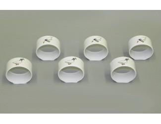 Набор колец для салфеток 6шт Leander Мэри-Энн Гуси декор 0807