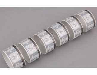 Набор колец для салфеток 6шт Leander Сабина Серый орнамент декор 1013