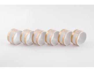 Набор колец для салфеток 6шт Leander Сабина Золотая лента (Версаче) декор A126