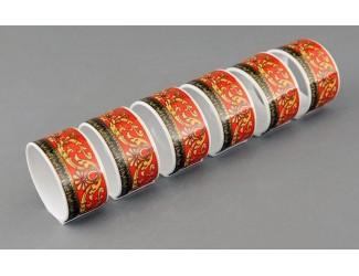 Набор колец для салфеток 6шт Leander Сабина Красна лента (Версаче) декор B979