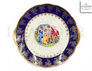Тарелка для торта 27см Leander Мэри-Энн Мадонна кобальт декор 0179