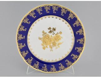 Блюдо круглое мелкое 30см Leander Мэри-Энн Золотая роза декор 0431