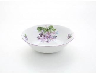 Салатник круглый 16см Leander Мэри-Энн Лиловые цветы декор 2391