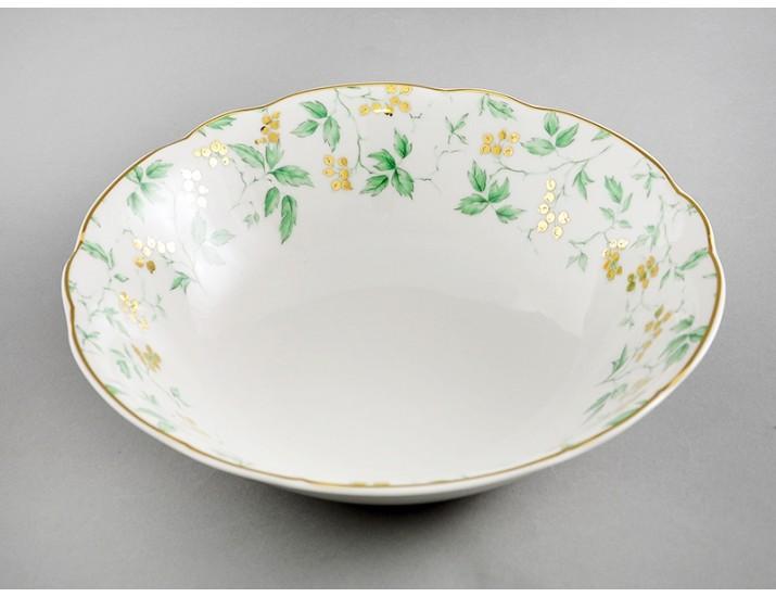 Салатник 26см Leander Мэри-Энн Зелёные листья декор 1381