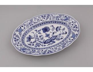 Блюдо овальное 32см Leander Мэри-Энн Гжель(Луковый рисунок) декор 0055