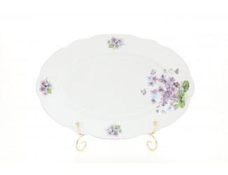 Блюдо овальное 23см Leander Мэри-Энн Лиловые цветы декор 2391