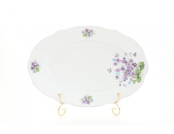Блюдо овальное 23см Leander Мэри-Энн Лиловые цветы