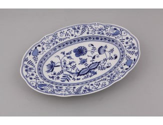 Блюдо овальное 36см Leander Мэри-Энн Гжель (Луковый рисунок) декор 0055