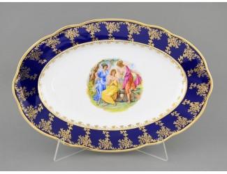 Блюдо овальное 36см Leander Мэри-Энн Мадонна кобальт декор 0179 03111513-0179