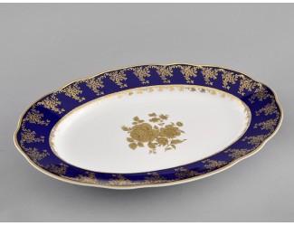 Блюдо овальное 36см Leander Мэри-Энн Золотая роза декор 0431 03111513-0431