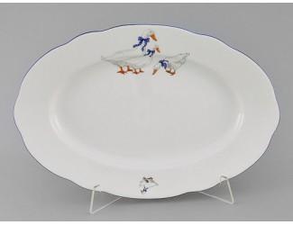 Блюдо овальное 36см Leander Мэри-Энн Гуси декор 0807