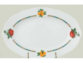 Блюдо овальное 36см Leander Мэри-Энн Фруктовый сад декор 080H