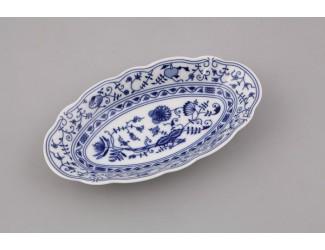 Блюдо овальное 23см Leander Мэри-Энн Гжель (Луковый рисунок) декор 0055