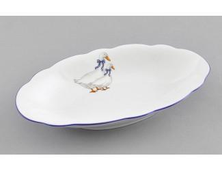 Блюдо овальное 23см Leander Мэри-Энн Гуси декор 0807