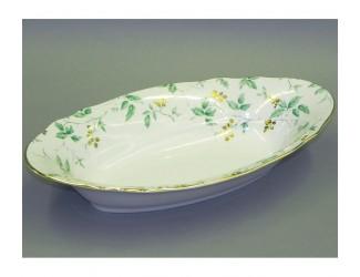 Блюдо для хлеба 33см Leander Мэри-Энн Зелёные листья декор 1381