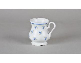 Кружка Leander 0,25л Синие цветы декор 0887