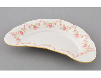 Блюдо для костей Leander Соната 24,5см Мелкие цветы декор 0158