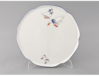 Тарелка для торта 28см Leander Мэри-Энн Гуси декор 0807