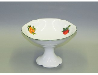 Ваза для фруктов на ножке 23см Leander Мэри-Энн Фруктовый сад декор 080H