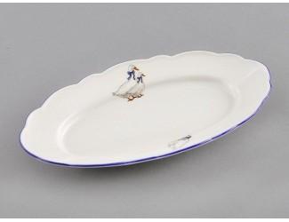Блюдо овальное 17см Leander Мэри-Энн Гуси декор 0807