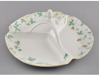 Менажница 29,5см Leander Мэри-Энн Зелёные листья декор 1381