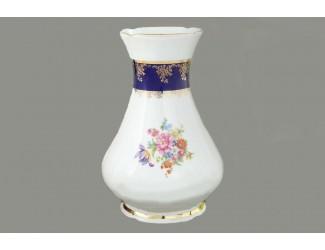 Ваза 32см Leander Мэри-Энн Мелкие цветы (Кобальт) декор 0086
