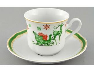 Чайная пара Leander Мэри-Энн 200 мл Рождество Олени, Новогодняя коллекция