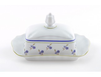 Масленка граненная 0,25кг Leander Мэри-Энн Синие цветы декор 0887 03122316-0887