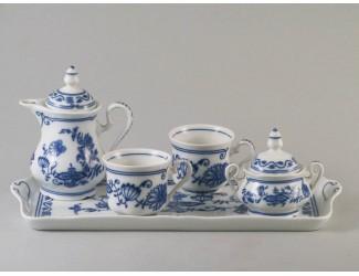 Сервиз кофейный на 2 персоны 6 предметов Leander Мэри-Энн Гжель (Луковый рисунок) декор 0055