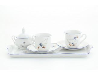 Подарочный набор кофейный тет-а-тет на 2 персоны Leander Мэри-Энн Гуси декор 0807 03140714-0807