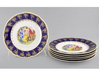 Набор тарелок мелких 6 шт 25см Leander Мэри-Энн Мадонна кобальт декор 0179