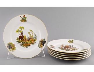 Набор тарелок мелких 6 шт 25см Leander Мэри-Энн Охота декор 0363