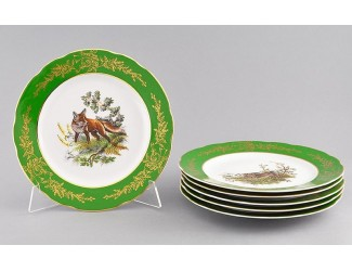 Набор тарелок мелких 6шт 25см Leander Мэри-Энн Царская охота декор 0763