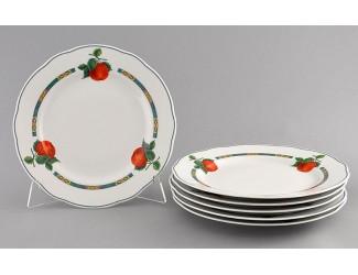 Набор тарелок мелких 6 шт 25см Leander Мэри-Энн Фруктовый сад декор 080Н