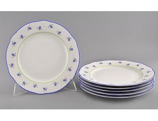 Набор тарелок мелких 6шт 25см Leander Мэри-Энн Синие цветы декор 0887