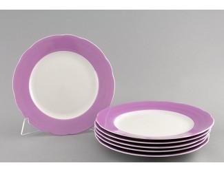 Набор тарелок мелких 6шт 25см Leander Мэри-Энн Лиловые цветы декор 2391