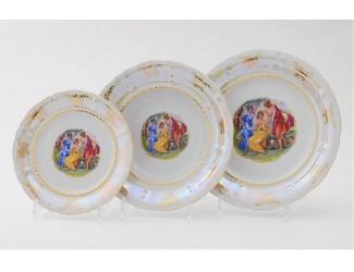 Набор тарелок 18 предметов Leander Мэри-Энн Мадонна перламутр декор 0676