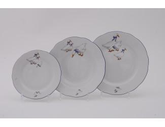 Набор тарелок 18 предметов Leander Мэри-Энн Гуси декор 0807