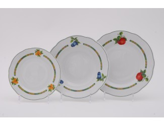 Набор тарелок 18 предметов Leander Мэри-Энн Фруктовый сад декор 080H